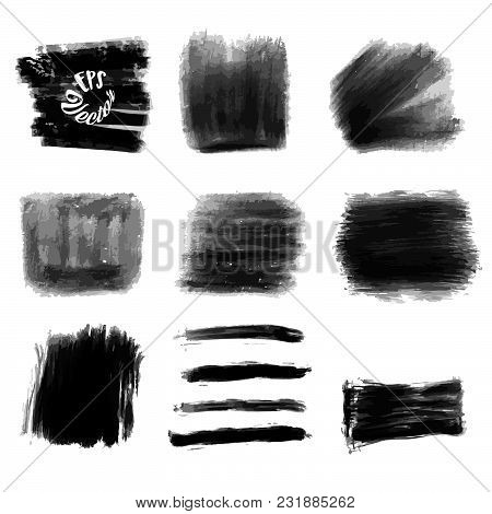 Various Chalk Strokes And Background Shapes. Vector Design Pattern