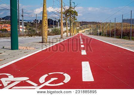 Bike Trail In City