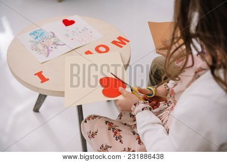 Cropped Shot Of Child Making Greeting For Mother On Mothers Day