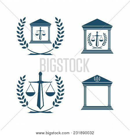 Balance Law Icon Vector Emblem Isolated On White Background. Balance Law Icon Modern Symbol For Grap