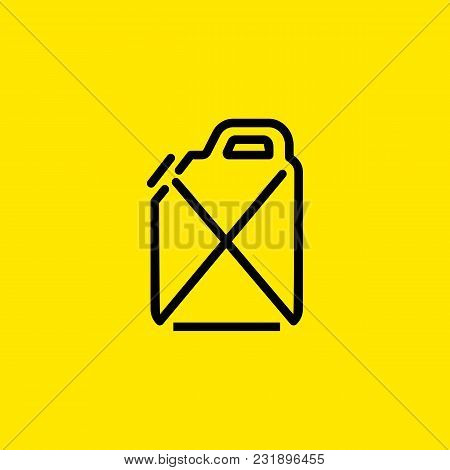 Line Icon Of Gasoline. Petrol, Oil, Canister. Fuel Concept. Can Be Used For Topics Like Oil And Gas