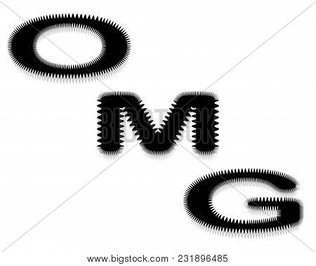 Oh My God. Vector Illustration Of An Inscription. Isolated On A White Background.