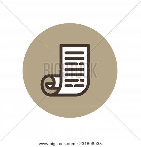 Roll Of Paper Illustration. J Monogram Like A Scroll. List Icon. Scroll Icon. Document And Diploma.