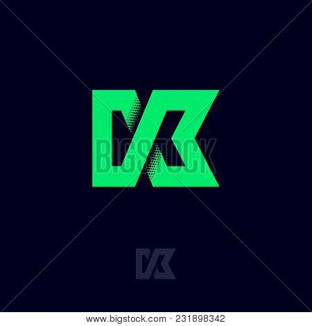 K Letter. K Monogram. Logo Or Icon Design. Web, Digital, Sport, Network, Communication Icon. Technol