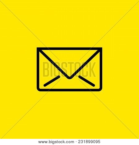 Line Icon Of Letter. Mail, Message, Email. Post Office Concept. Can Be Used For Web Pictograms, Desi