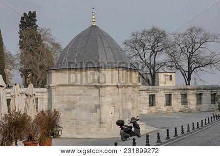 New Mosque - Yeni Cami In Eminonu District Of Istanbul In Turkey.