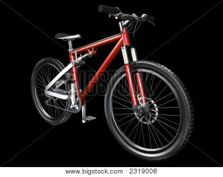 3D Mountain Bike vorne