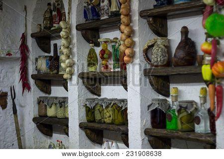 Ukrainian Rural Country Style Kitchen With Village Interioraccessories