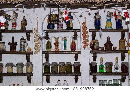 Ukrainian Rural Style Kitchen With Village Interior Decoration Accessories