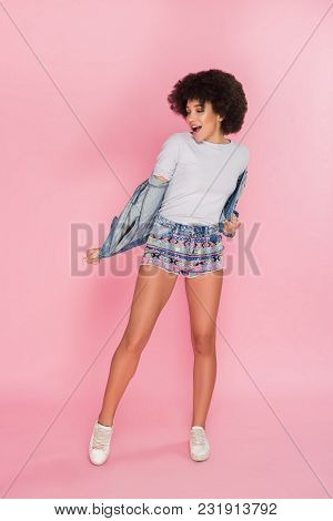Clothing Is A Form Of Self-expression! Smart Good-looking Stylish Young Woman, While Wearing Trendy