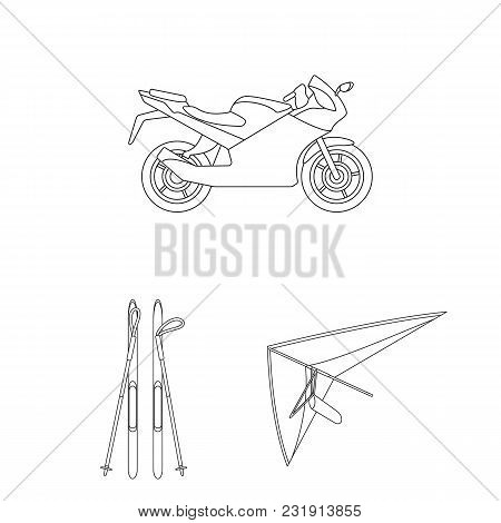 Extreme Sport Outline Icons In Set Collection For Design.different Kinds Of Sports Vector Symbol Sto