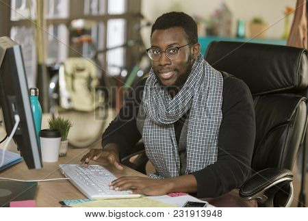 Handsome Professional Man Working In A Creative Office
