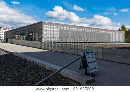Berlin, Germany - April 19, 2017: View Of The Topography Of Terror, An Outdoor And Indoor History Mu