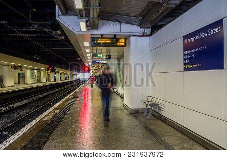 Birmingham, United Kingdom - March 02 2018 : Birmingham New Street Railway Station In Birmingham, Un