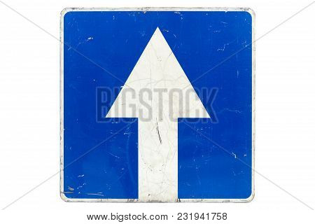Square Road Sign 'one-way Street' Isolated On White