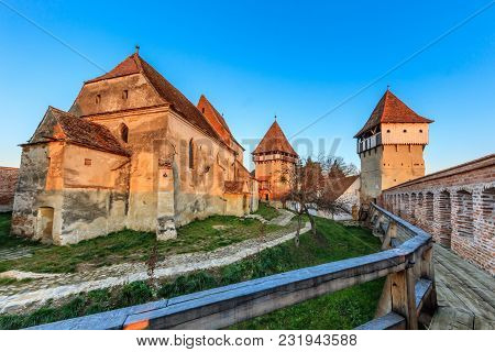 Alma Vii, Evangelical Fortified Church From Transylvania, Romania. A Settlement Dating From 1502