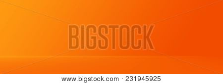 Studio Background - Abstract Bright Luxury Orange Gradient Horizontal Studio Room Wall Background Fo