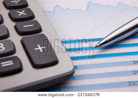 Saving Account Book From Bank For Business Finance With Pen