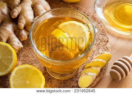 A Cup Of Tea With Ginger, Lemon And Honey