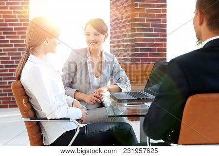 business team discussing business issues in office