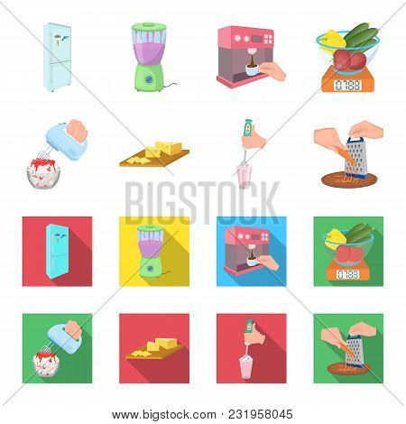 , Jam, Diet, Accessories And Other  Icon In Cartoon, Flat Style.cook, Equipment, Appliance Icons In