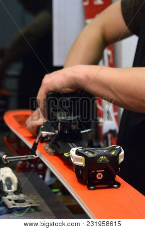 Repair Of Ski And Snowboard In The Workshop