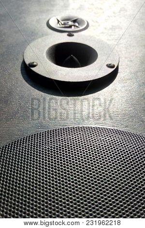 Hi - Fi Speaker Close-up High-quality Sound Sunlight