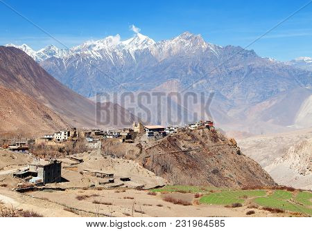 Jharkot Village, One Of The Best Villages In Round Annapurna Circuit Trekking Trail Route, Nepal Him
