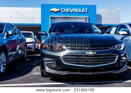 Noblesville - Circa March 2018: Chevrolet Automobile Dealership. Chevy Is A Division Of General Moto