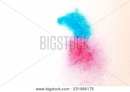 Powdered Powder Paint Of Blue And Red Color