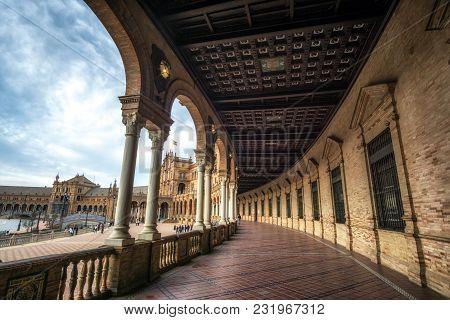 Seville Spanish Plaza Corridors