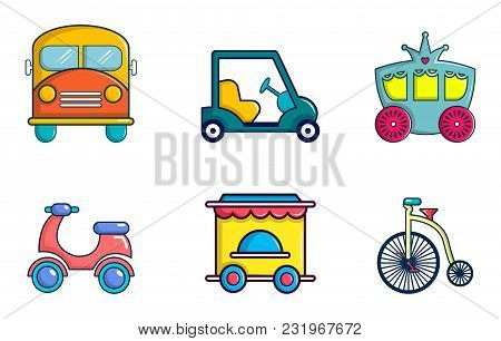 Vehicle Icon Set. Cartoon Set Of Vehicle Vector Icons For Web Design Isolated On White Background