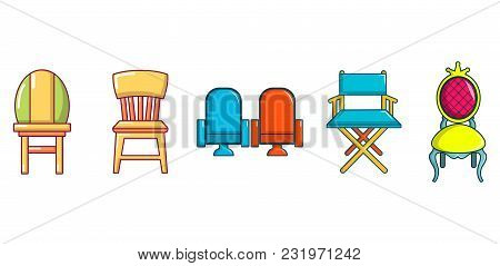 Chair Icon Set. Cartoon Set Of Chair Vector Icons For Web Design Isolated On White Background