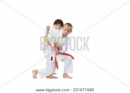 With A Red Belt Sportsman Makes A Grab For The Throw