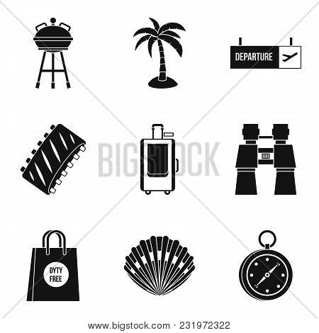 Liberalization Icons Set. Simple Set Of 9 Liberalization Vector Icons For Web Isolated On White Back