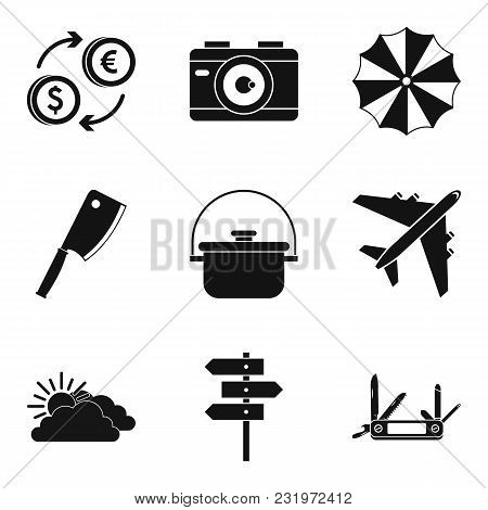 Repose Icons Set. Simple Set Of 9 Repose Vector Icons For Web Isolated On White Background