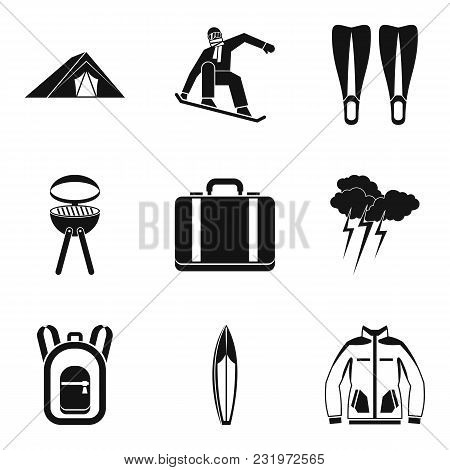 Respite Icons Set. Simple Set Of 9 Respite Vector Icons For Web Isolated On White Background
