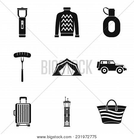 Living Space Icons Set. Simple Set Of 9 Living Space Vector Icons For Web Isolated On White Backgrou