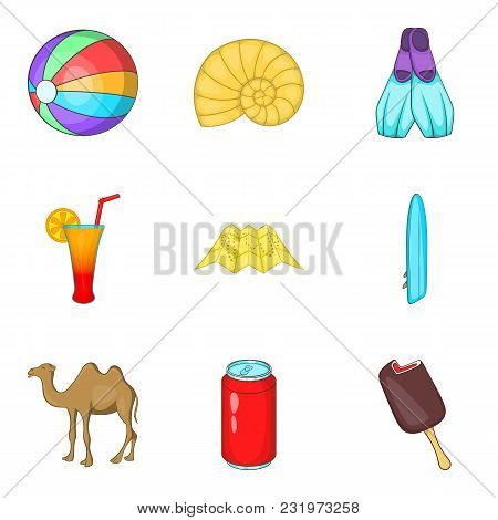 Spare Moment Icons Set. Cartoon Set Of 9 Spare Moment Vector Icons For Web Isolated On White Backgro