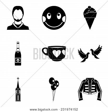 Hotly Favourite Icons Set. Simple Set Of 9 Hotly Favourite Vector Icons For Web Isolated On White Ba
