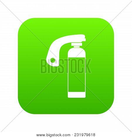 Fire Extinguisher Icon Digital Green For Any Design Isolated On White Vector Illustration