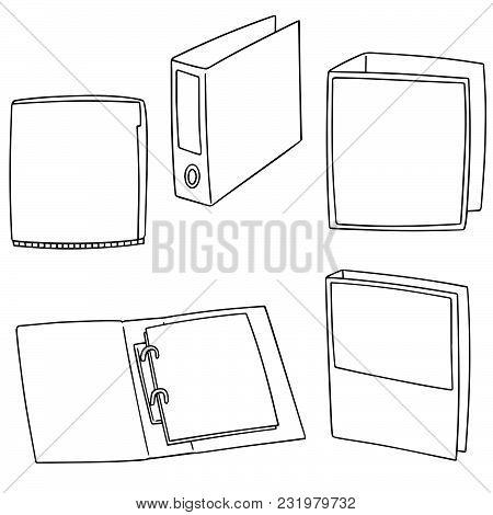 Vector Set Of Folder Hand Drawn Cartoon