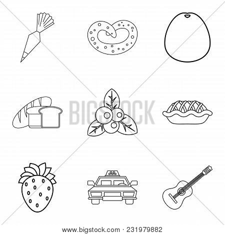 Useful Nutrition Icons Set. Outline Set Of 9 Useful Nutrition Vector Icons For Web Isolated On White