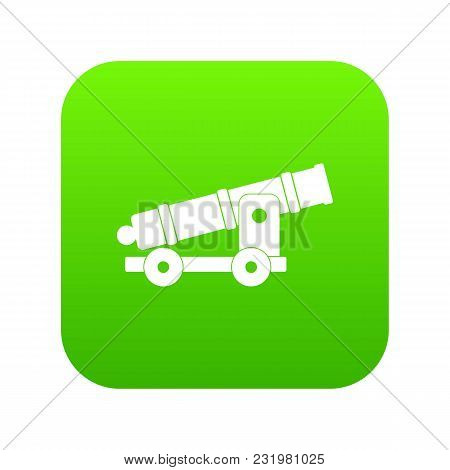 Cannon Icon Digital Green For Any Design Isolated On White Vector Illustration