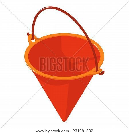 Fire Bucket Icon. Isometric Illustration Of Fire Bucket Vector Icon For Web