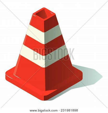 Construction Cone Icon. Isometric Illustration Of Construction Cone Vector Icon For Web