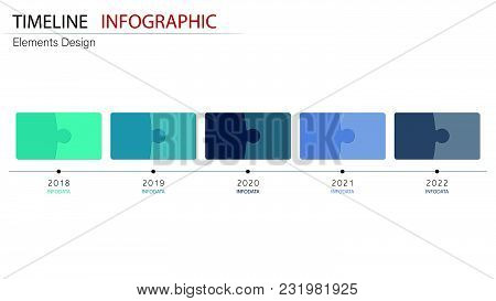 Vector Abstract Element Timeline Infographics. Design For Business Or Finance Template Layout, Broch