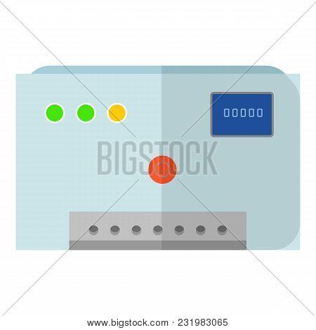 Electricity Equipment Icon. Flat Illustration Of Electricity Equipment Vector Icon For Web