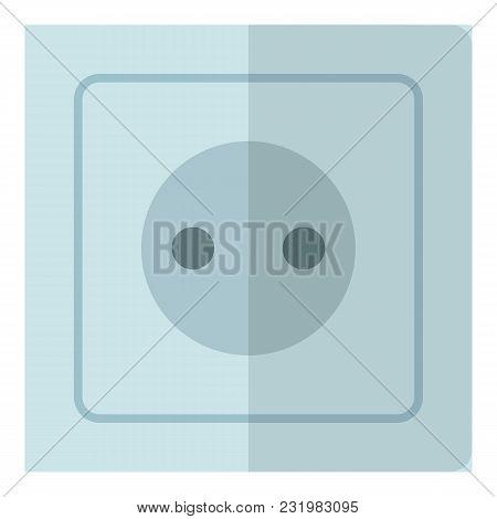 Electricity Socket Icon. Flat Illustration Of Electricity Socket Vector Icon For Web