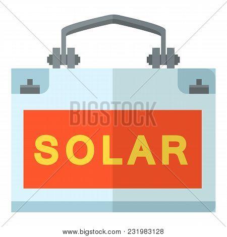 Solar Generation Icon. Flat Illustration Of Solar Generation Vector Icon For Web